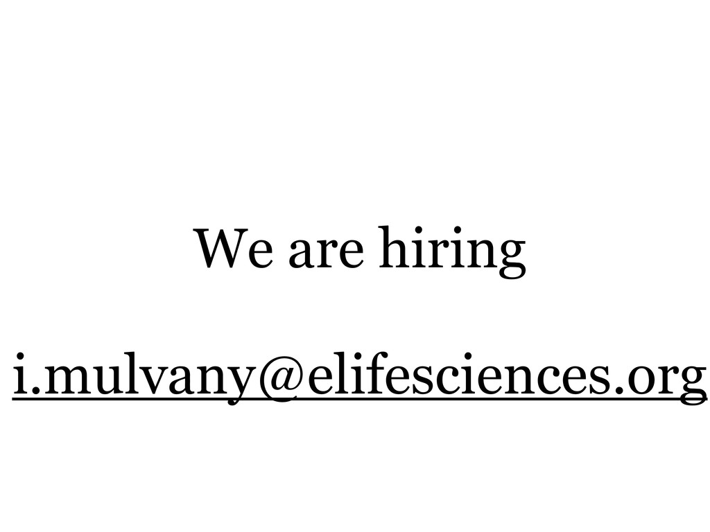 We are hiring i.mulvany@elifesciences.org