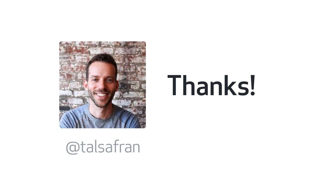 Thanks! @talsafran
