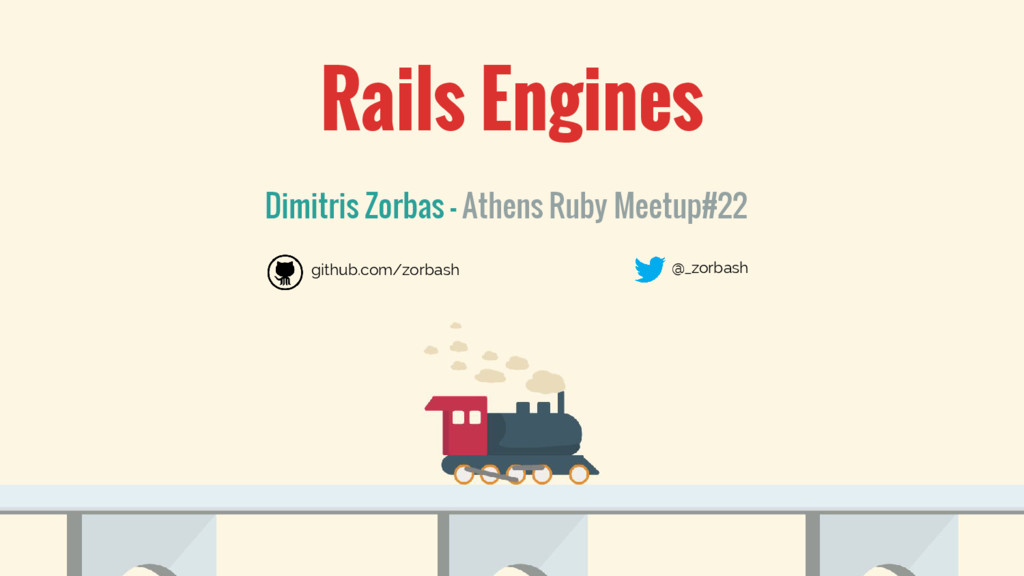 Rails Engines Dimitris Zorbas - Athens Ruby Mee...