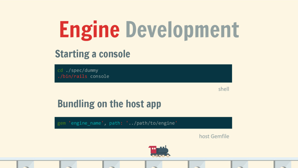 Engine Development Starting a console cd ./spec...