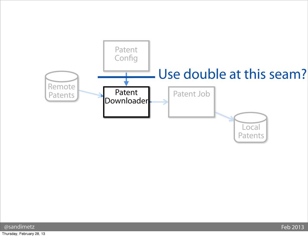 @sandimetz Feb 2013 Remote Patents Patent Job L...