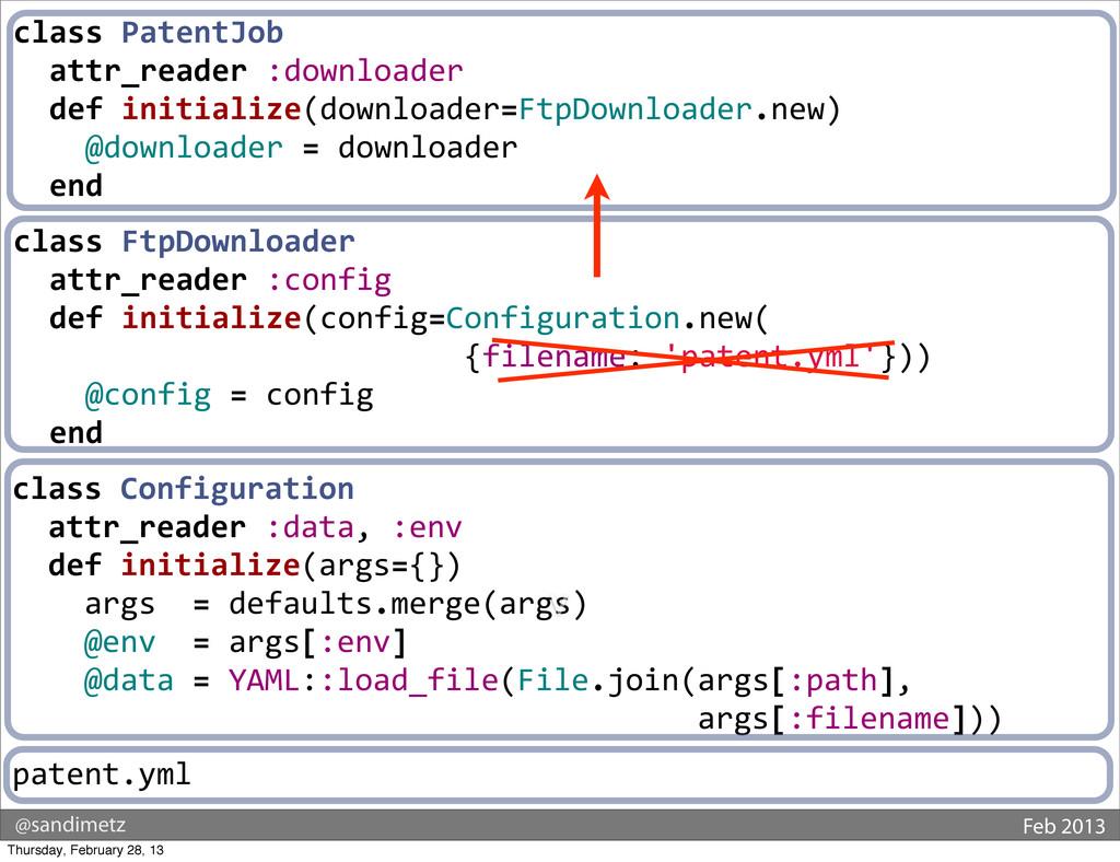 @sandimetz Feb 2013 class PatentJob   ...
