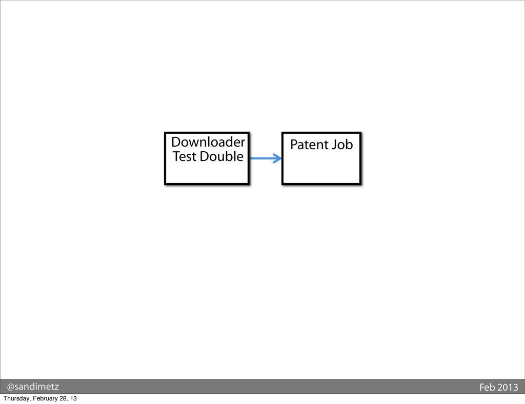 @sandimetz Feb 2013 Patent Job Downloader Test ...