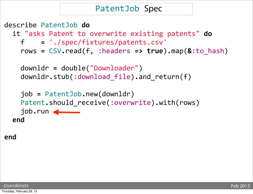@sandimetz Feb 2013 PatentJob Spec describe...