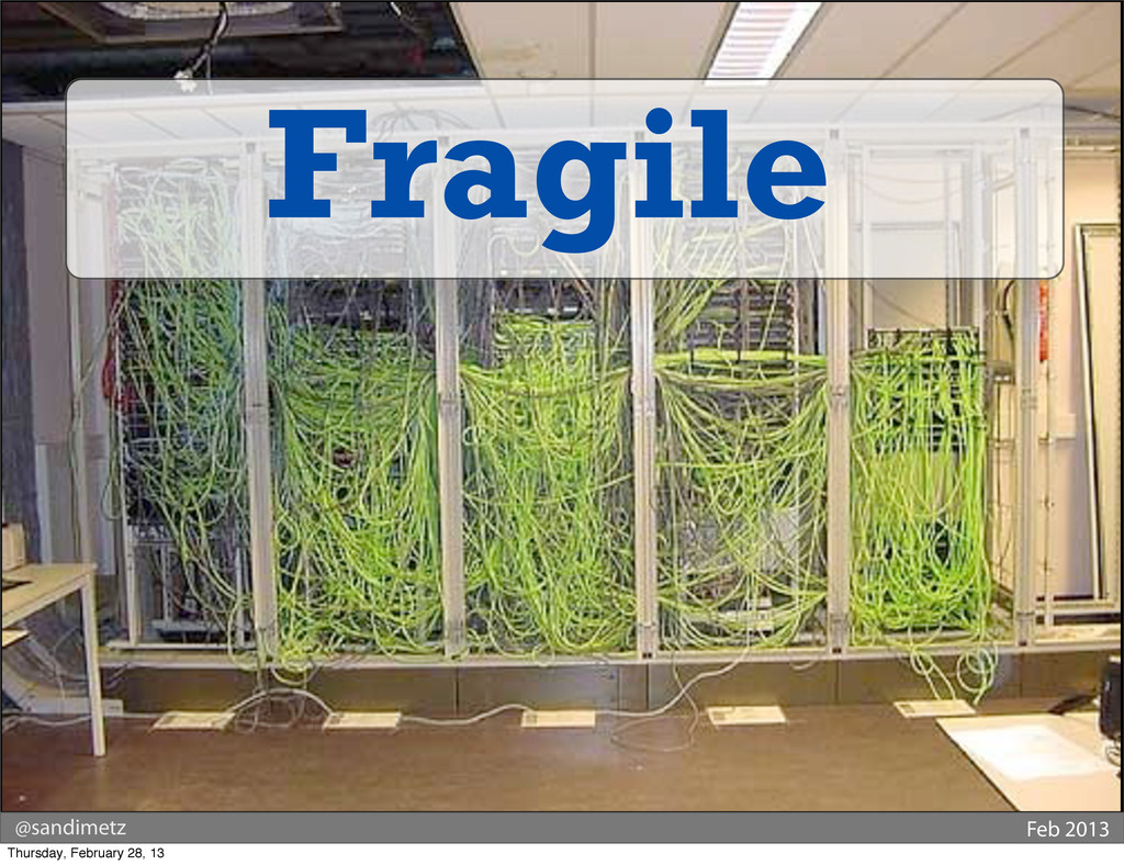 @sandimetz Feb 2013 Fragile Thursday, February ...