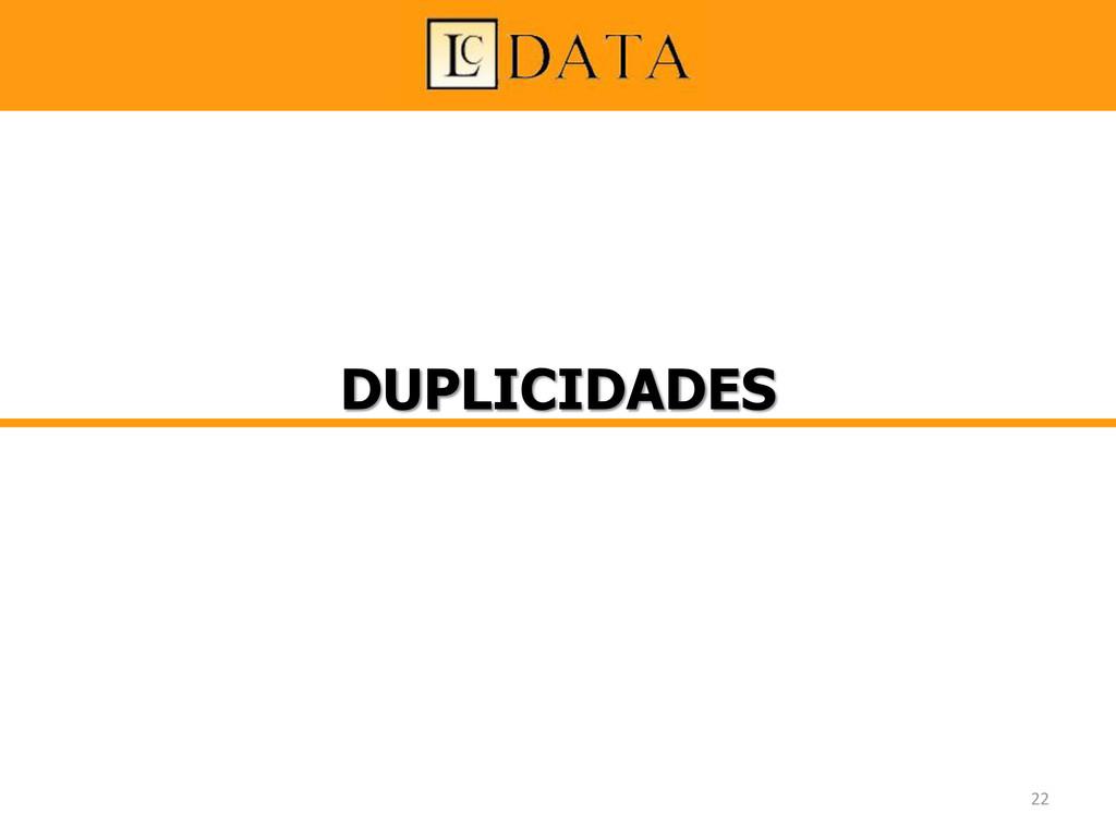 DUPLICIDADES 22