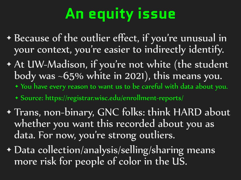 An equity issue ✦ Because)of)the)outlier)effect,...