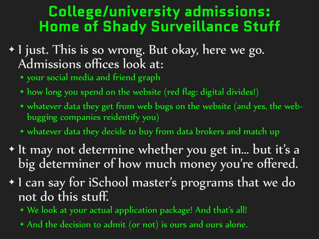 College/university admissions: Home of Shady Su...