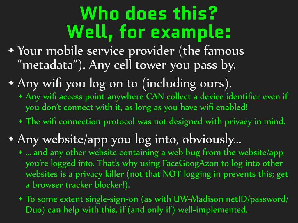 Who does this? Well, for example: ✦ Your)mobile...