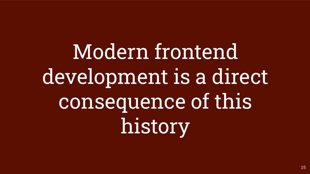 15 Modern frontend development is a direct cons...