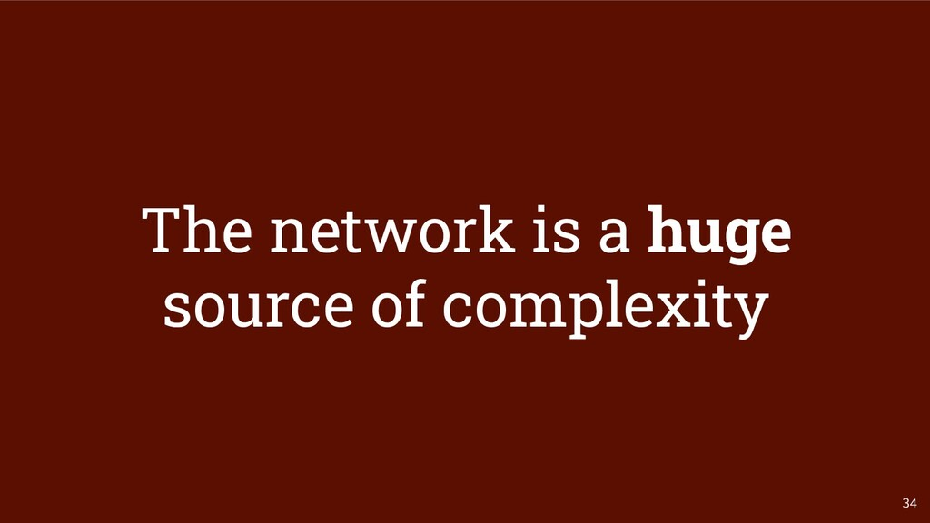 34 The network is a huge source of complexity