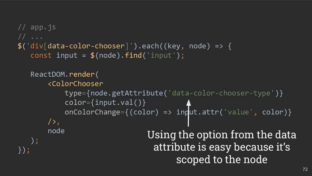 72 // app.js // ... $('div[data-color-chooser]'...