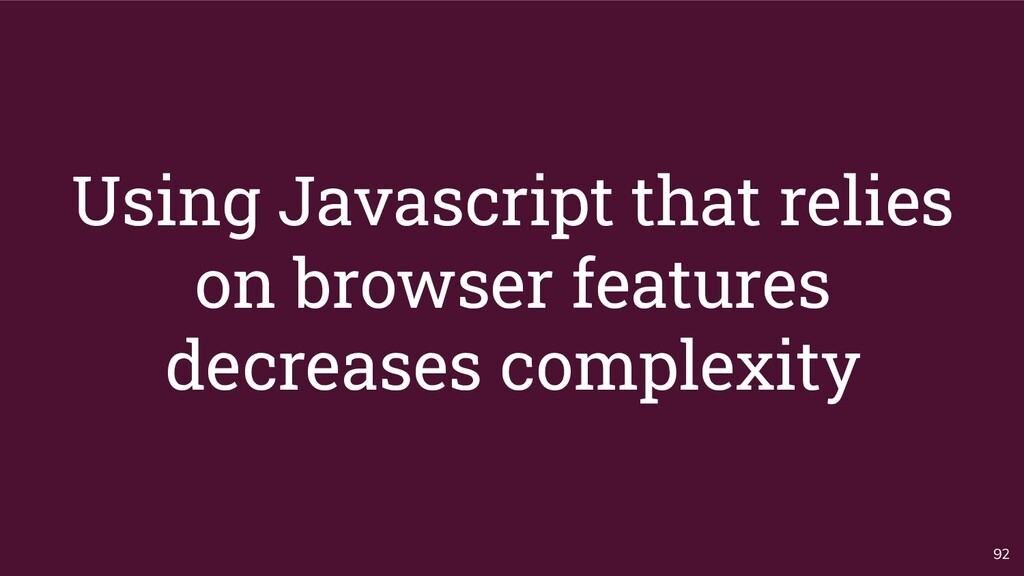 Using Javascript that relies on browser feature...