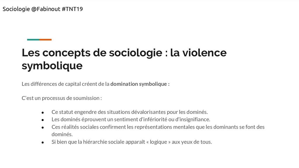 Les concepts de sociologie : la violence symbol...