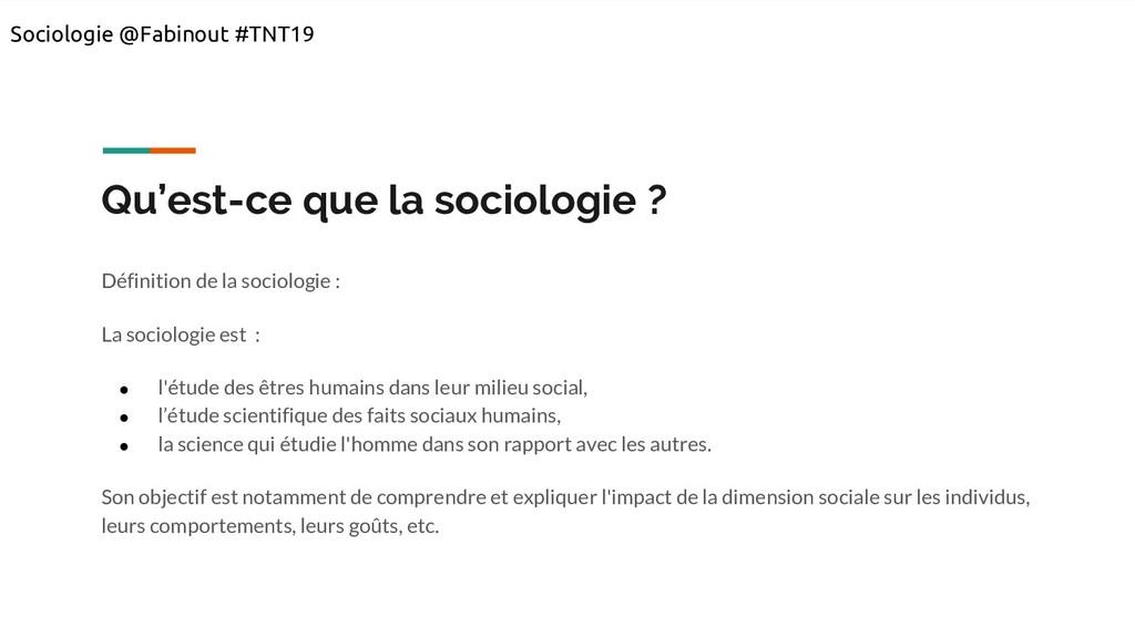 Qu'est-ce que la sociologie ? Définition de la ...