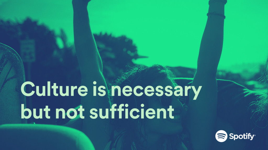 Culture is necessary but not sufficient