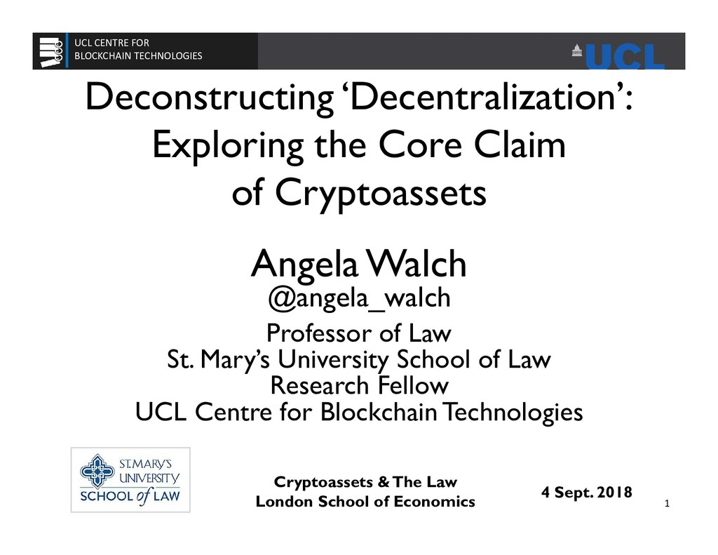 Deconstructing 'Decentralization': Exploring th...