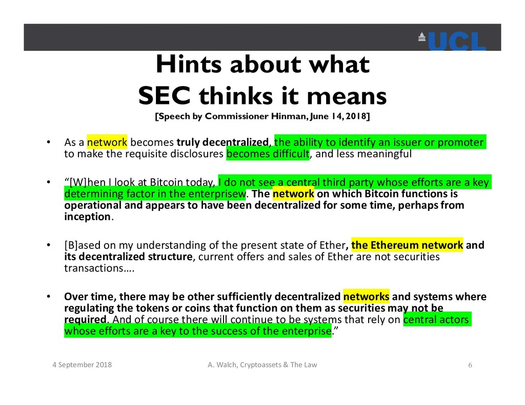 Hints about what SEC thinks it means [Speech by...