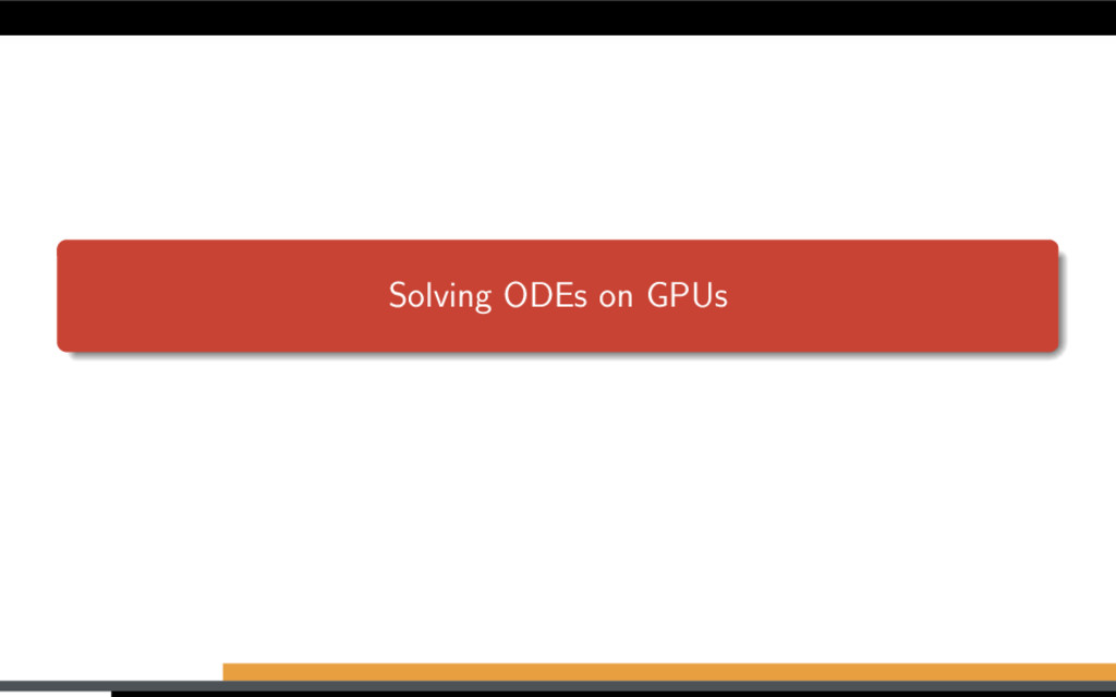 Solving ODEs on GPUs
