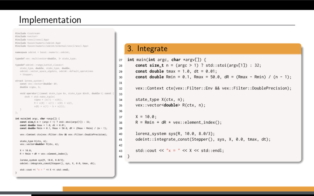 Implementation #include <iostream> #include <ve...