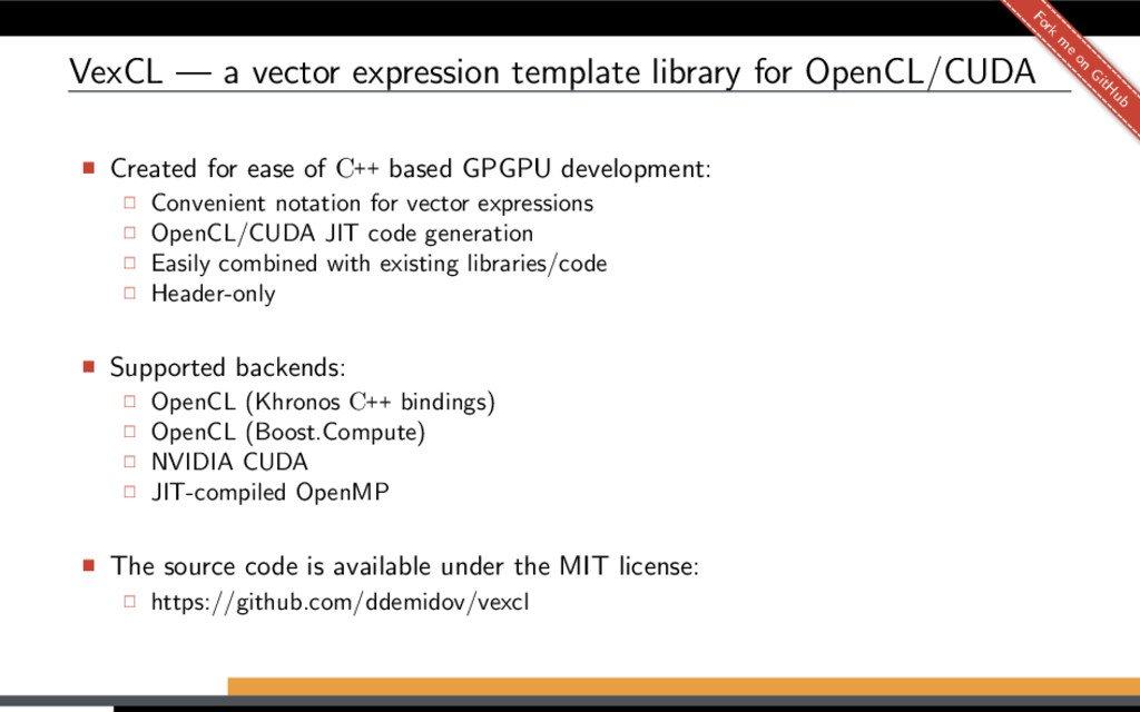 VexCL — a vector expression template library fo...