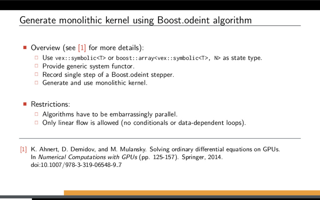 Generate monolithic kernel using Boost.odeint a...