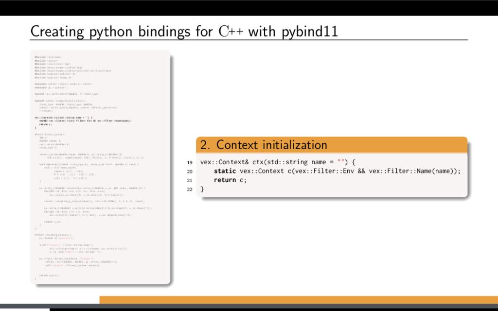 Creating python bindings for C++ with pybind11 ...