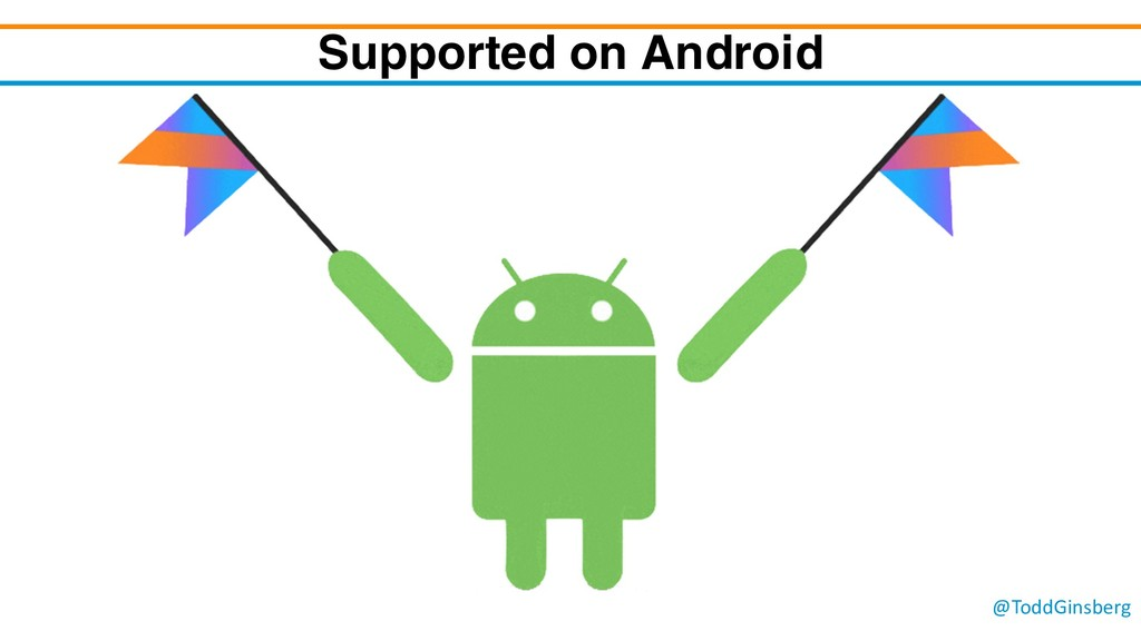 @ToddGinsberg Supported on Android