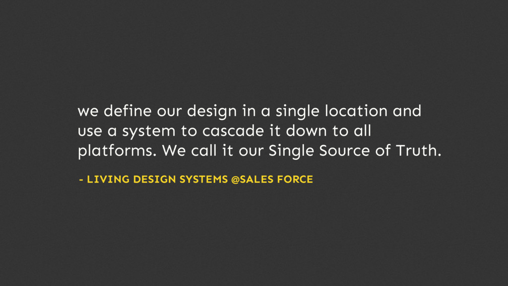 we define our design in a single location and u...
