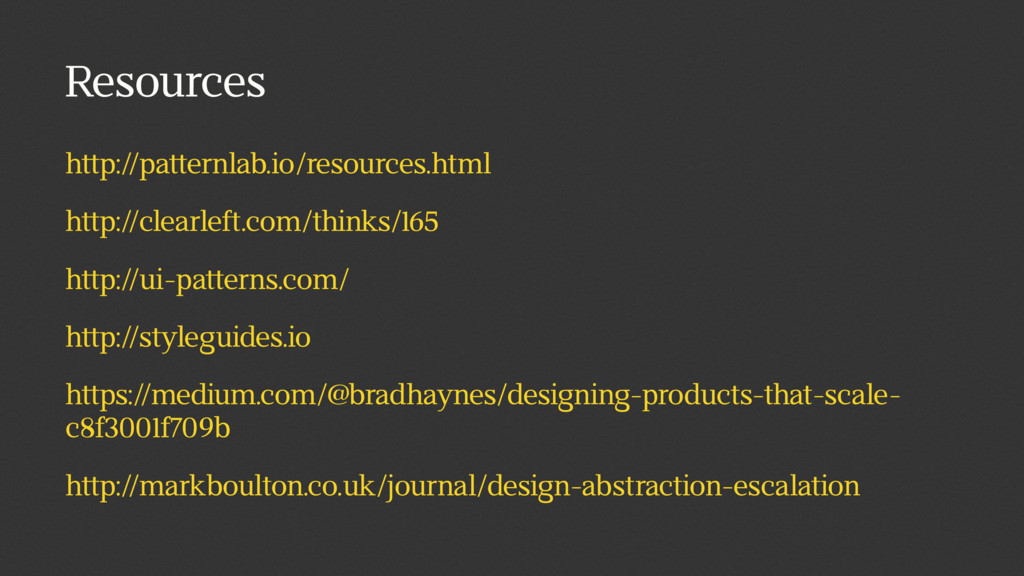 Resources http://patternlab.io/resources.html h...