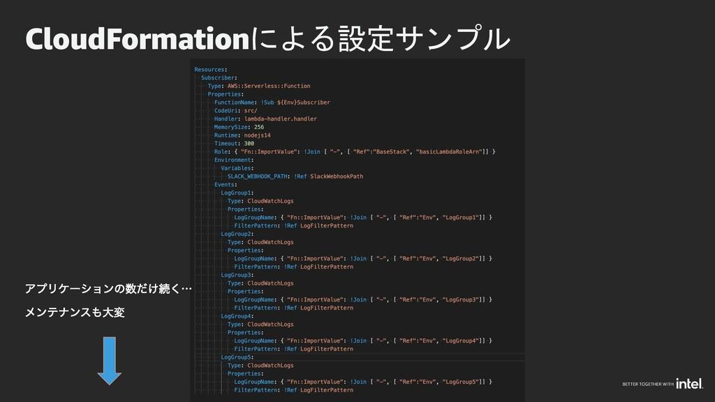 CloudFormationによる設定サンプル