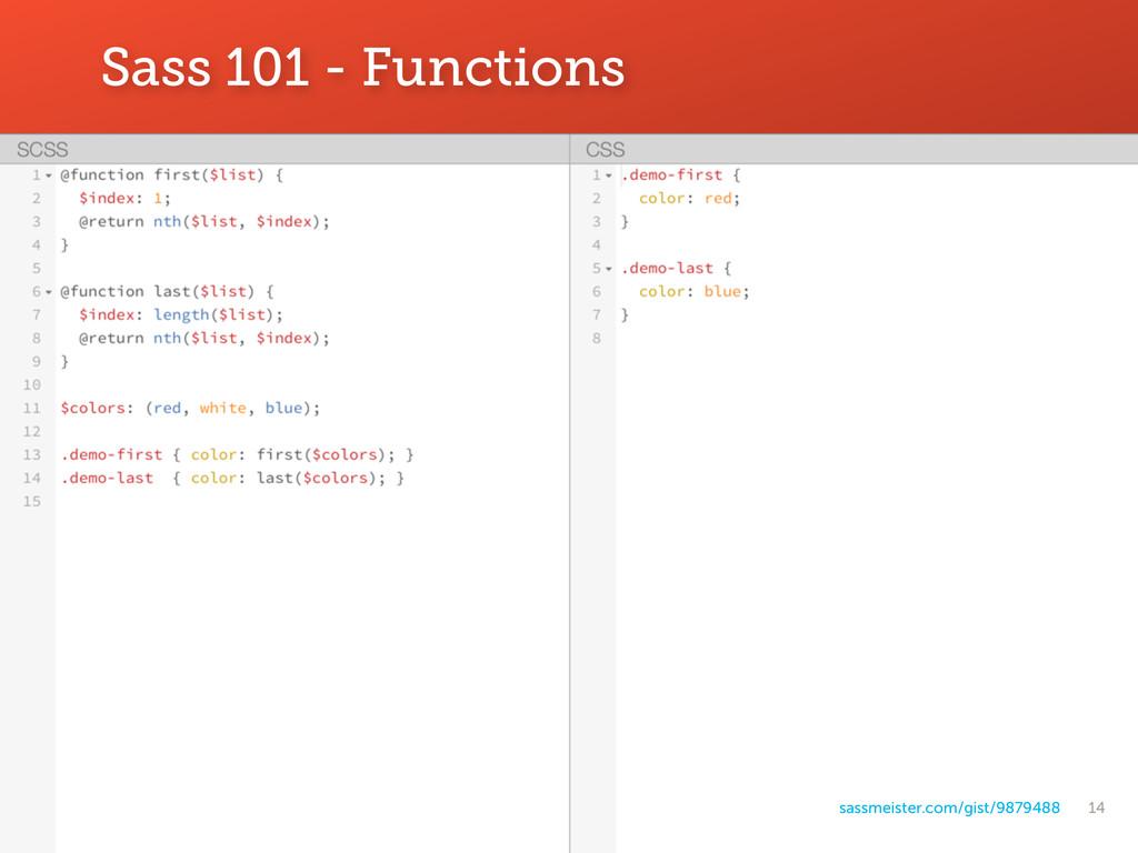 14 Sass 101 - Functions sassmeister.com/gist/98...