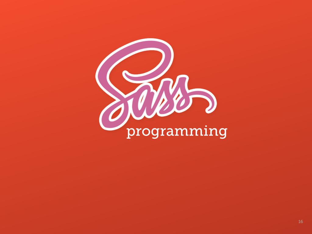 16 programming