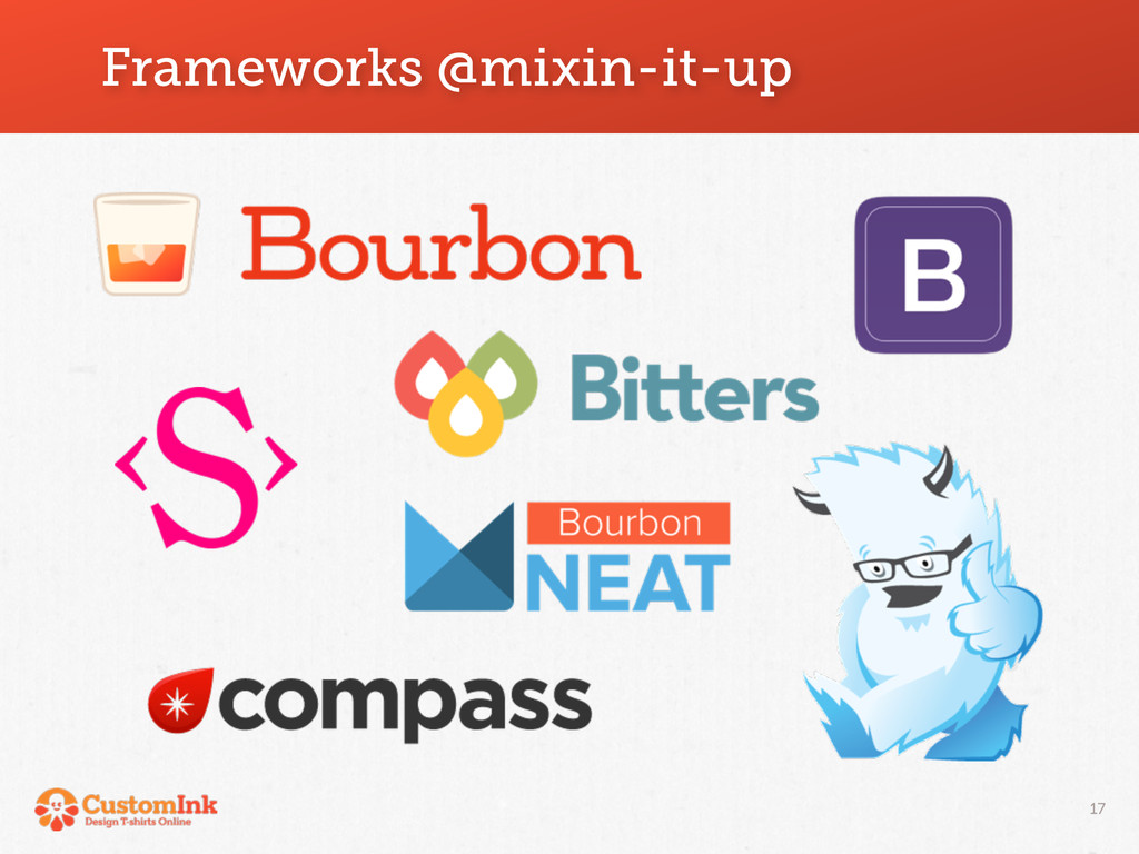 Frameworks @mixin-it-up 17