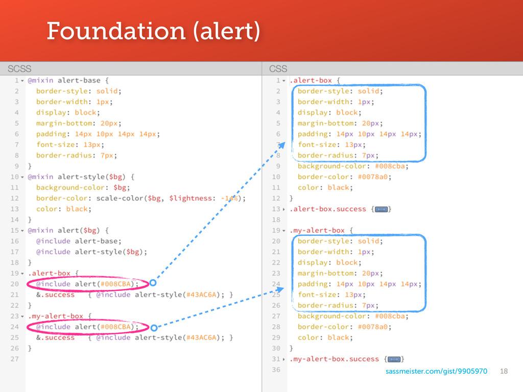 18 Foundation (alert) sassmeister.com/gist/9905...