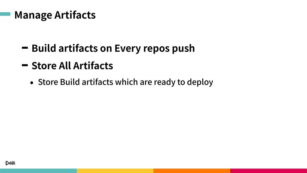 Manage Artifacts Build artifacts on Every repos...