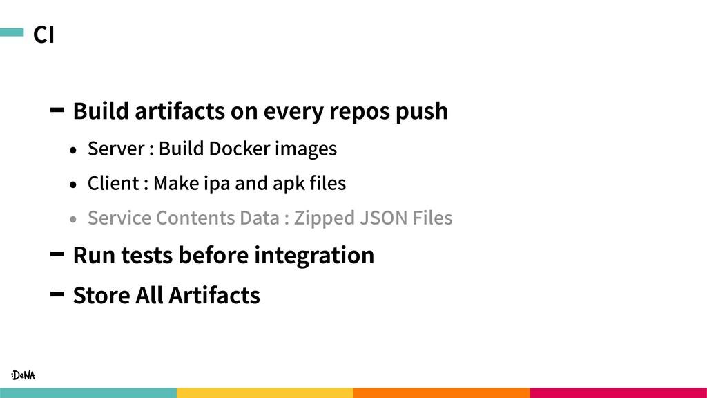 CI Build artifacts on every repos push • Server...