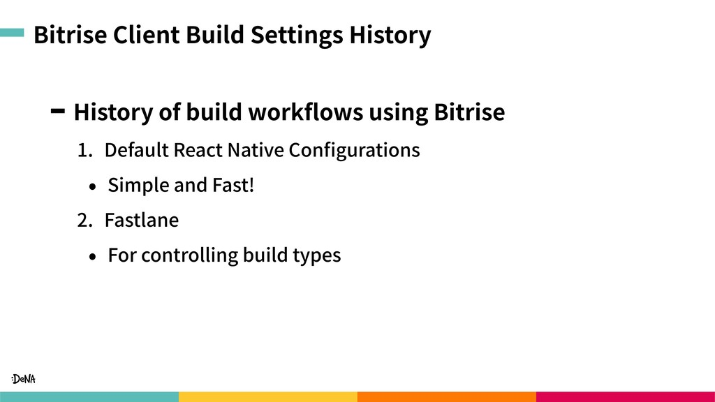 Bitrise Client Build Settings History History o...
