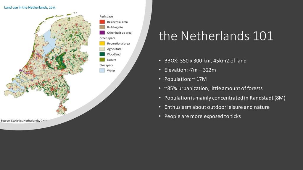 the Netherlands 101 • BBOX: 350 x 300 km, 45km2...