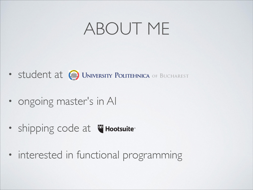 ABOUT ME • student at  • ongoing master's in ...