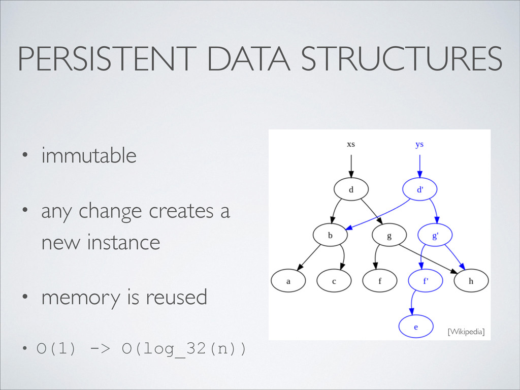 PERSISTENT DATA STRUCTURES • immutable  • any...