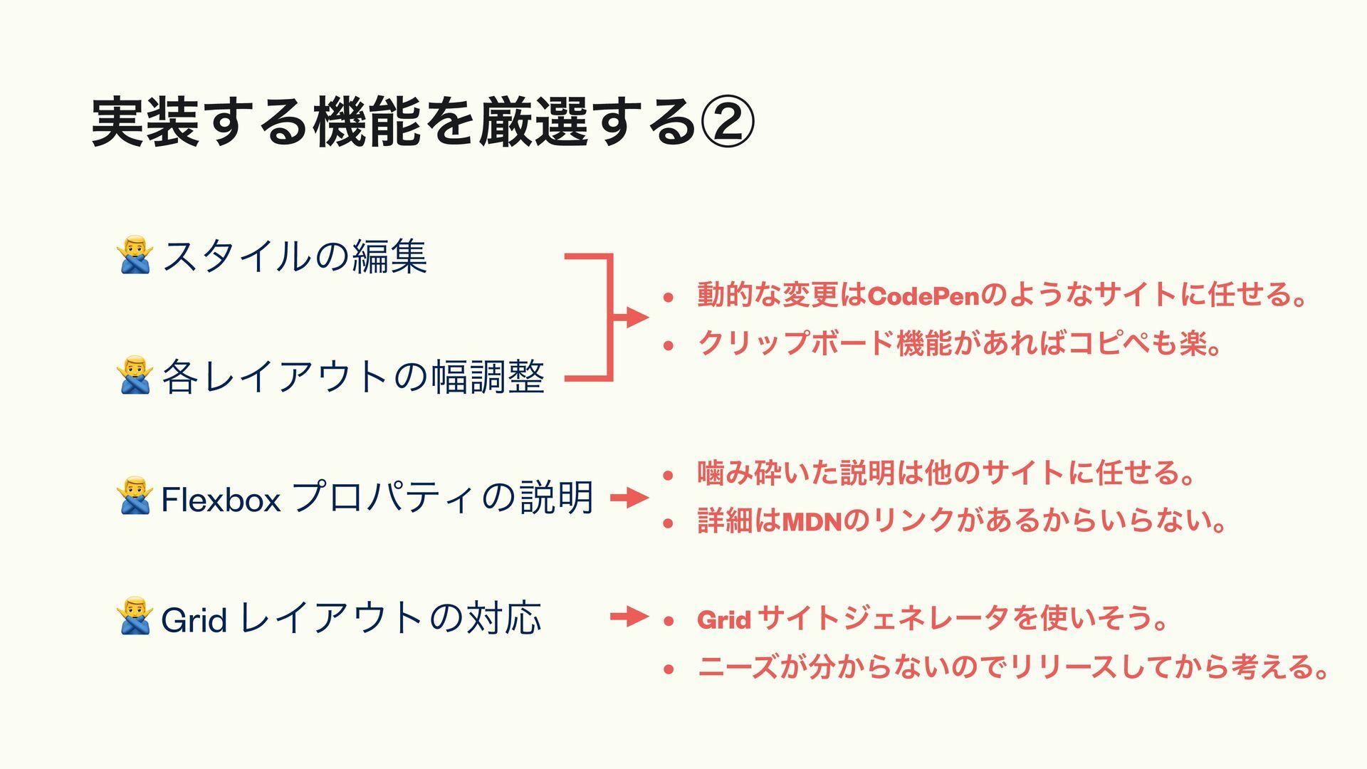⭕ Flexbox ϨΠΞτͷҰཡදࣔ ⭕ ద༻͞Ε͍ͯΔελΠϧͷ֬ ⭕ ελΠϧΛΫϦ...