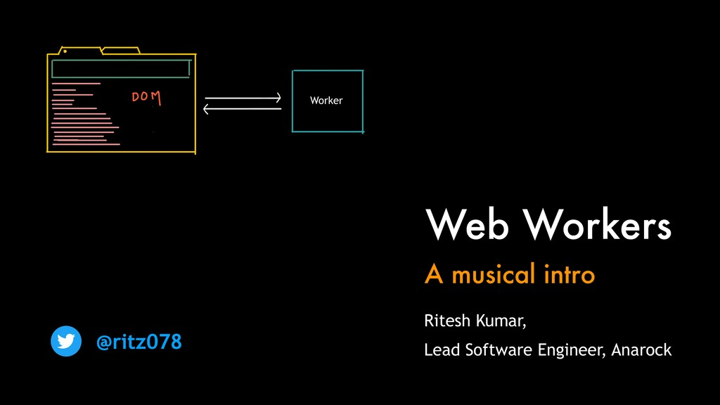 Web Workers A musical intro @ritz078 Ritesh Kum...