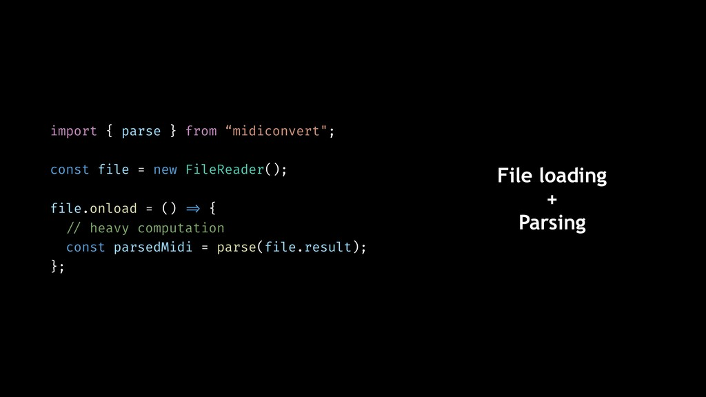 "import { parse } from ""midiconvert""; const file..."