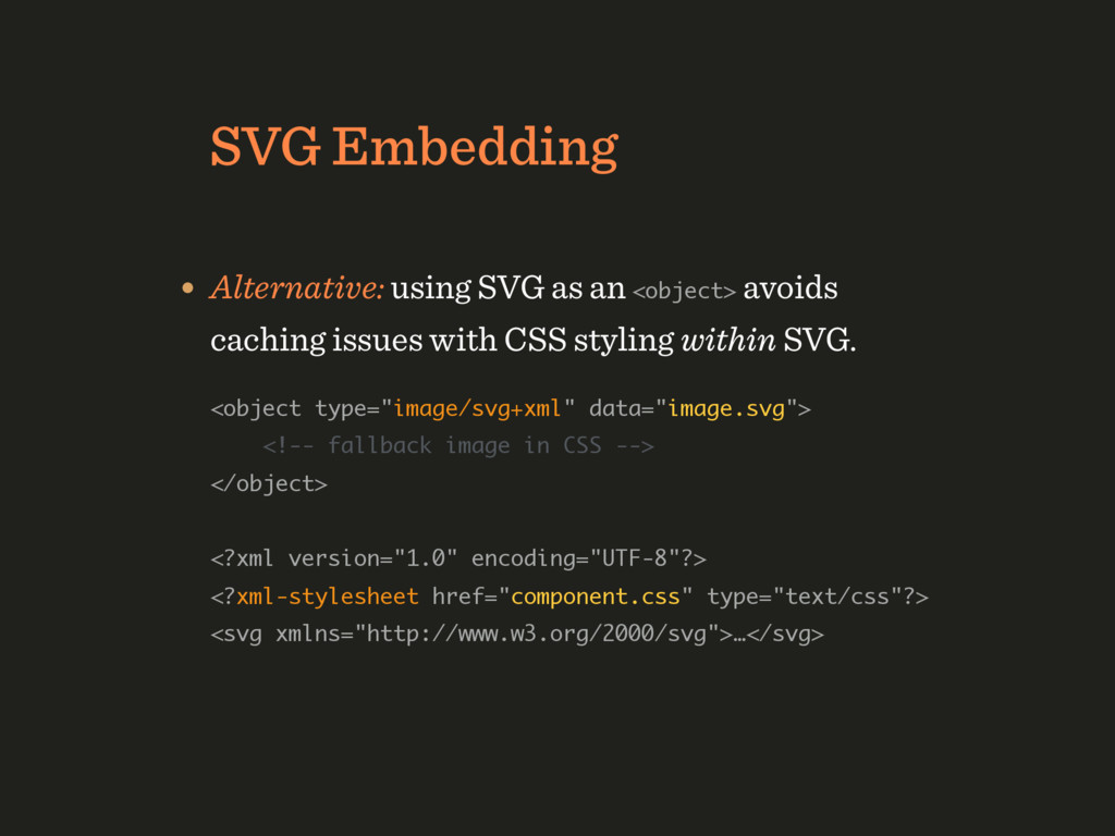 "SVG Embedding • With ""inline"" SVG or Data URI e..."