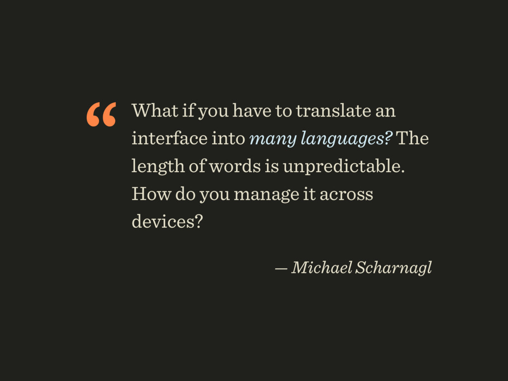 """What if you have to translate an interface int..."