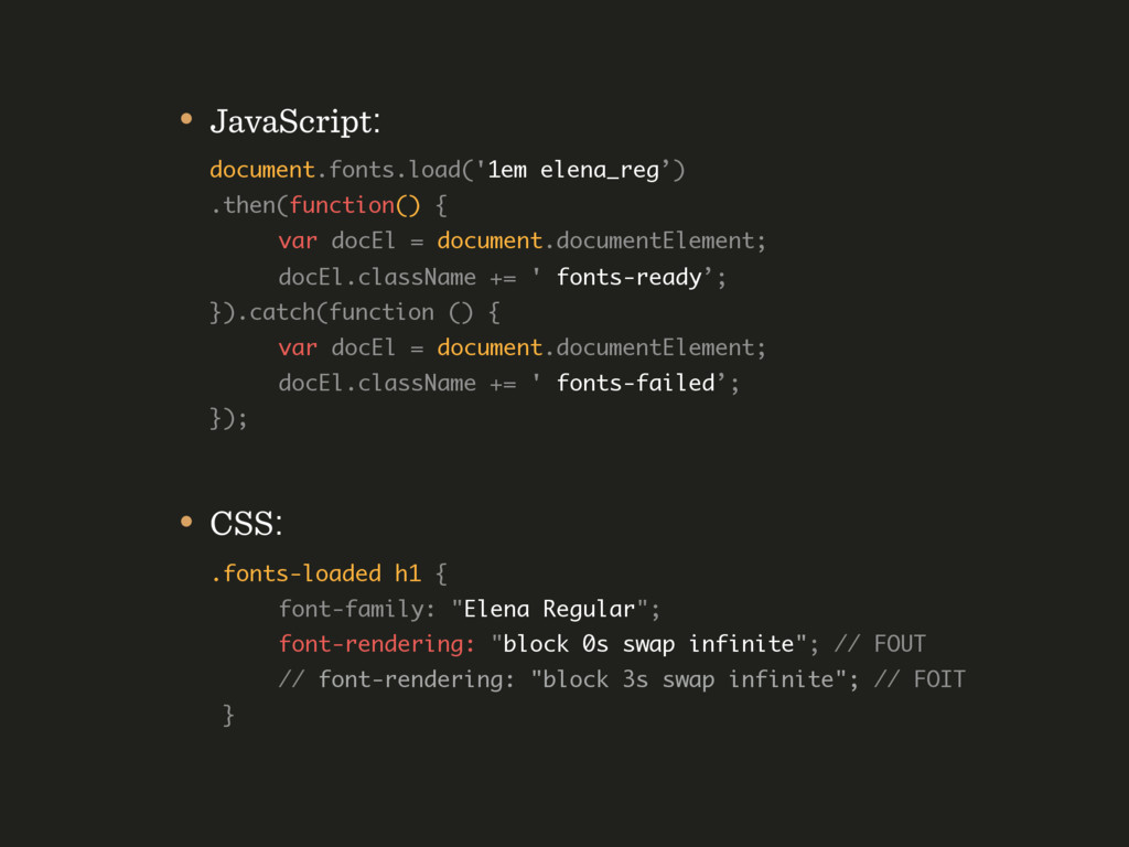• JavaScript: