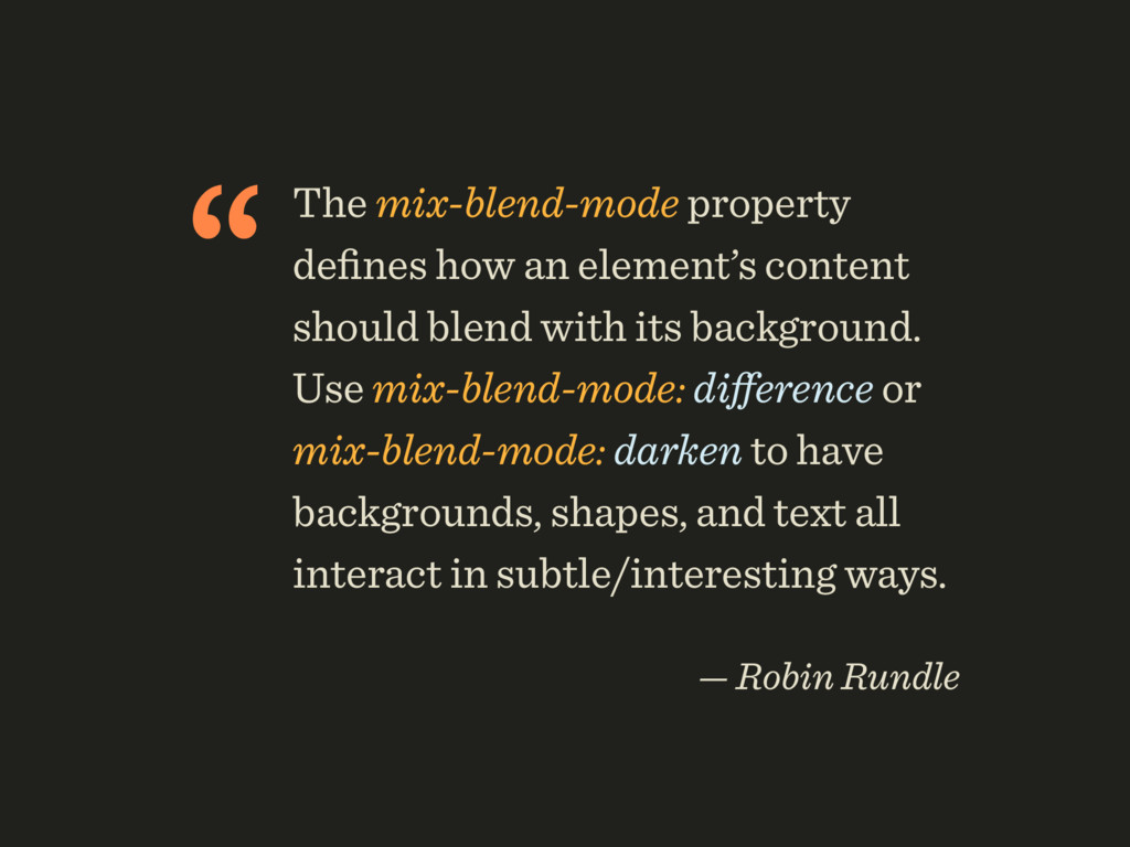 """The mix-blend-mode property defines how an elem..."