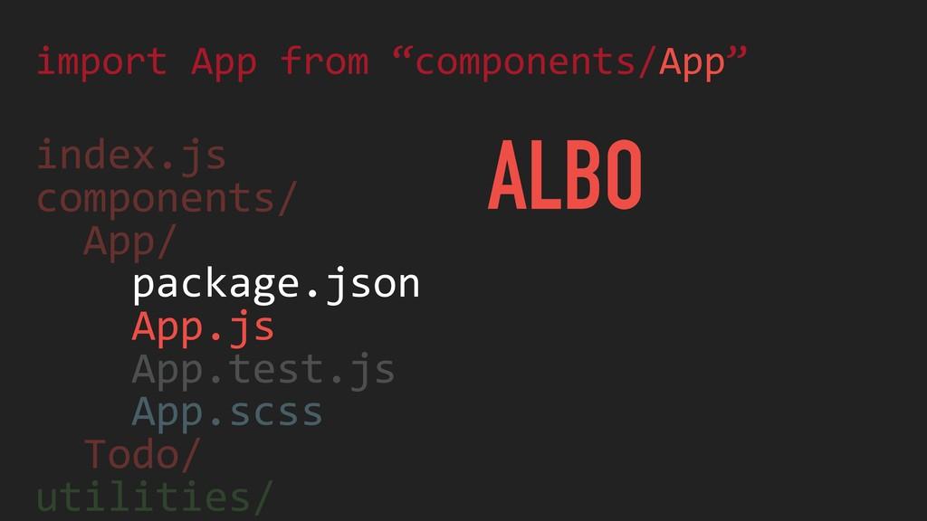 index.js components/ App/ package.json App.js A...