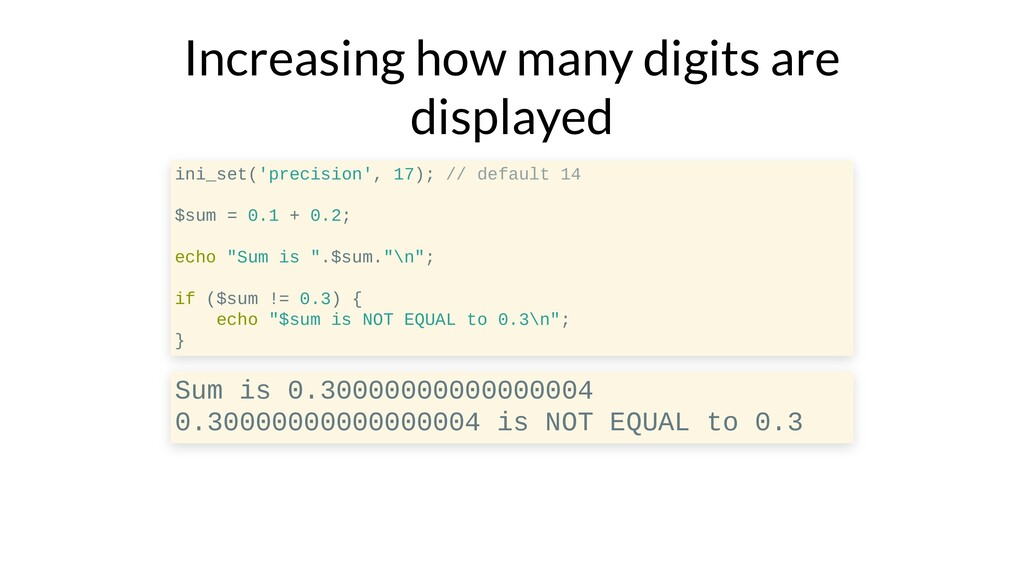 Increasing how many digits are displayed ini_se...